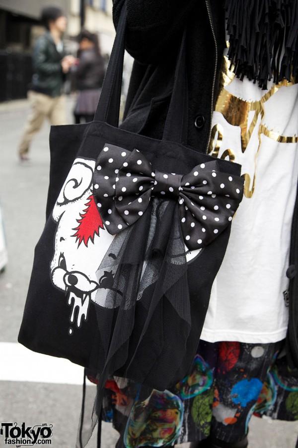 monomania bag with bow & scarf