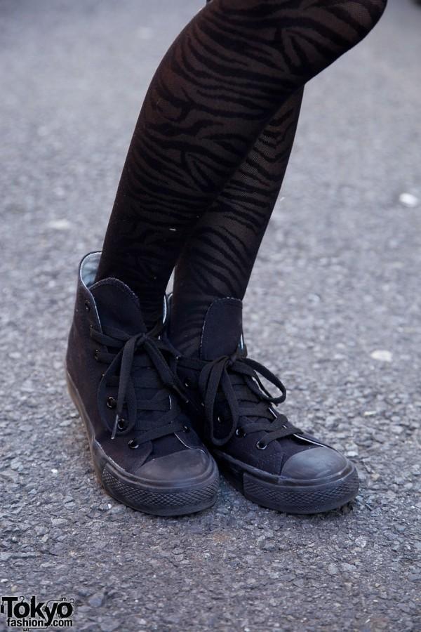 Stockings and Sneakers in Harajuku