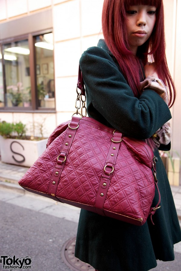 Vintage Quilted Purse in Harajuku