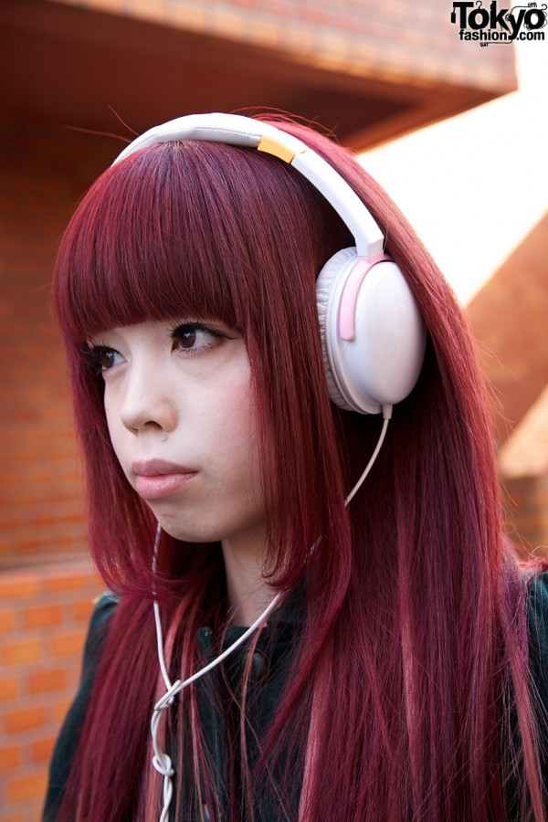 Pretty Japanese Girl in Headphones