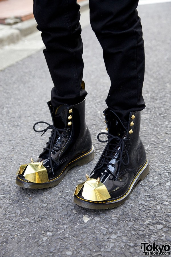 Dr. Martens Studded Metal Armor Boots