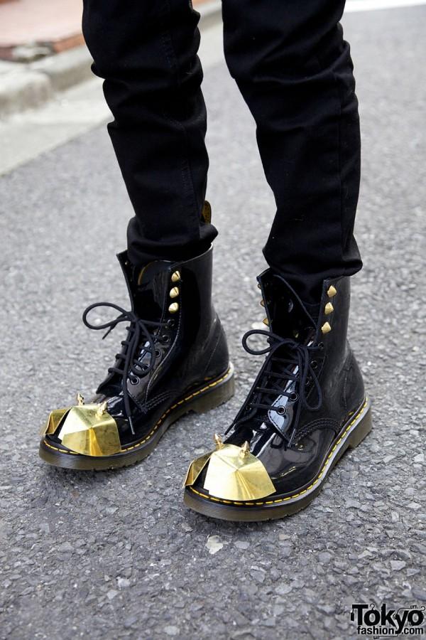 ordinare girasole in lavorazione  Dr. Martens Studded Metal Armor Boots – Tokyo Fashion News
