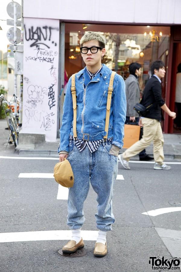 Dries Van Noten Shirt & Phenomenon Suspenders