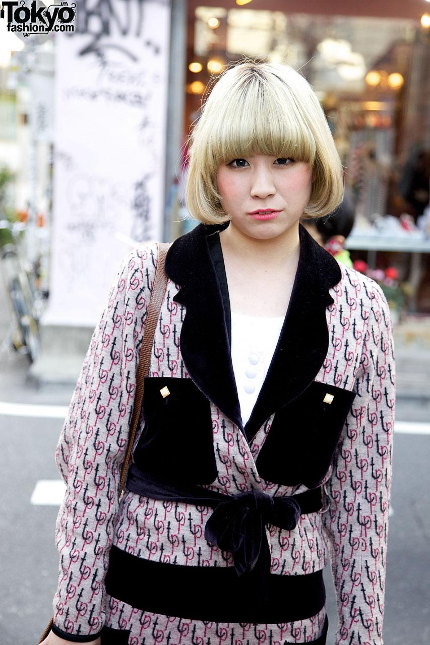 Short Blonde Japanese Hairstyle Tokyo Fashion News