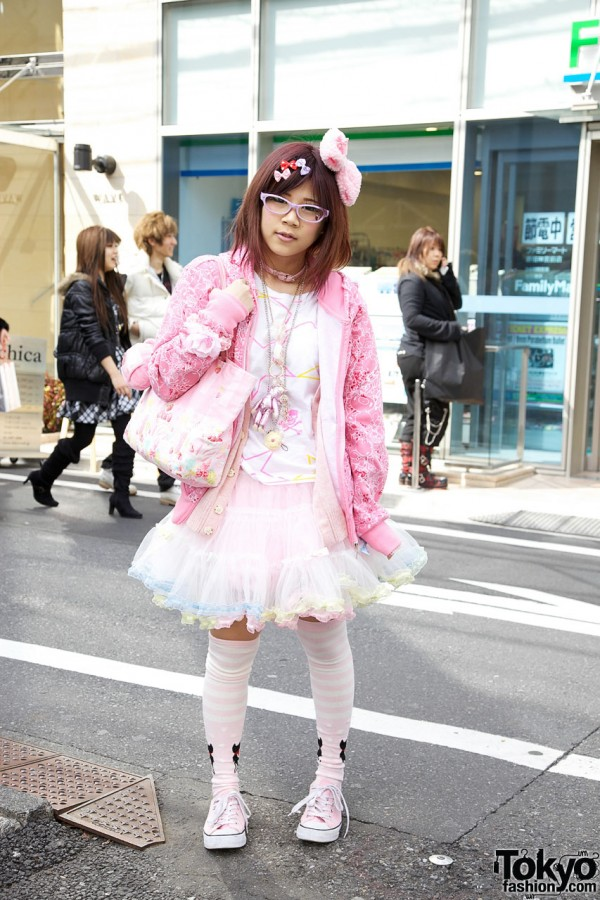 Japanese Girl in All Pink w/ Super Lovers & BodyLine