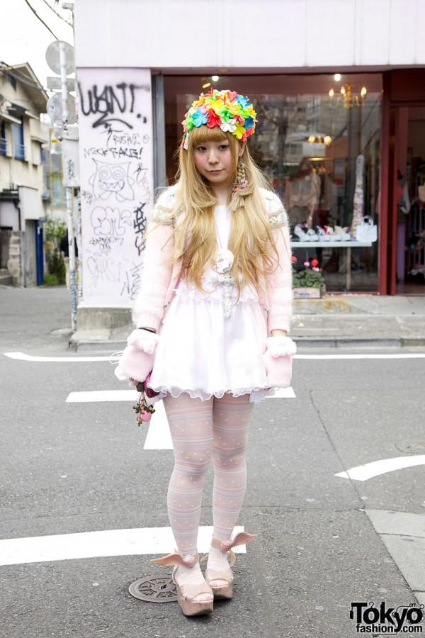 Vintage Swim Cap, Vivienne Westwood x Melissa Wing Shoes & Handmade in Harajuku