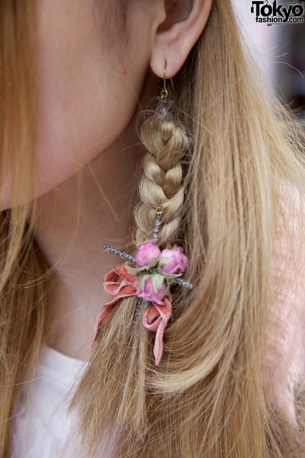 Hair Braid & Flower Earring by MEtA