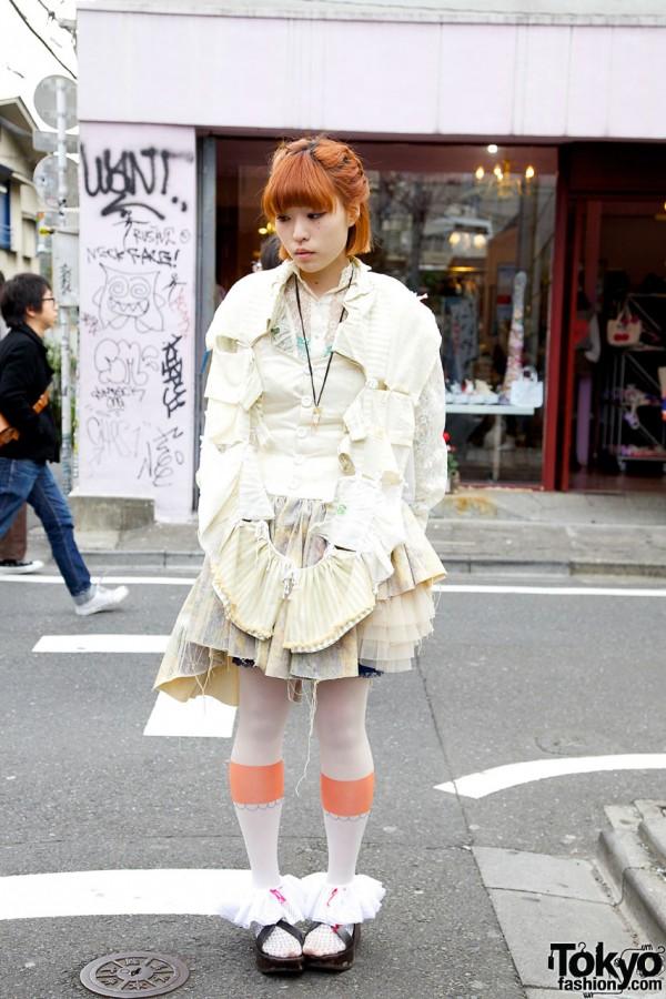 Amazing Handmade Dress & Whimsical Backpack in Harajuku