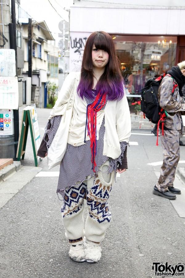 Repurposed Sweater & Art Bag in Harajuku