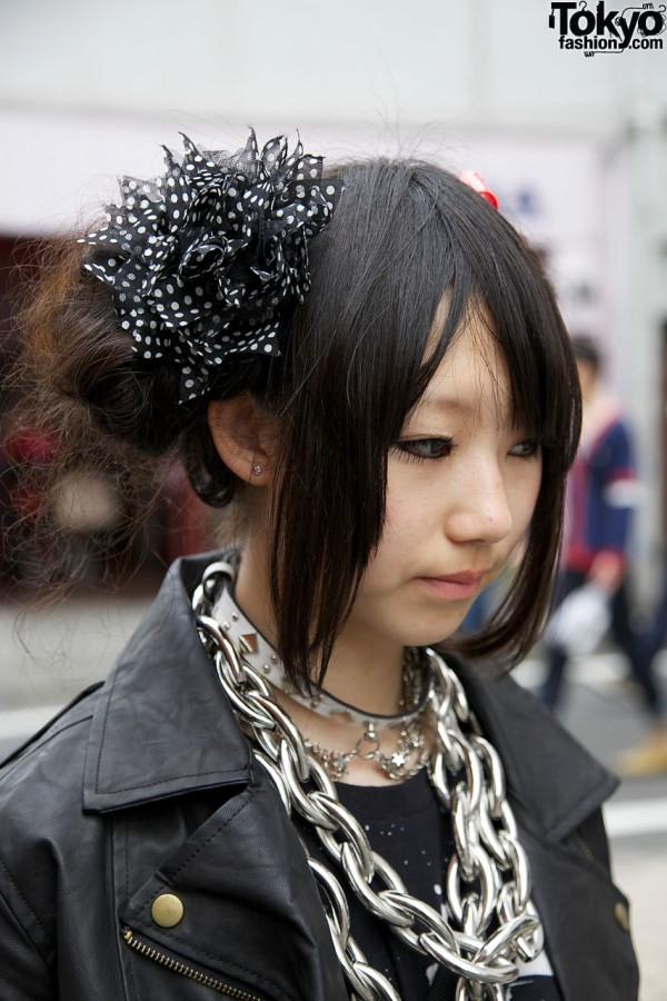 Dog collar & fabric hair bow