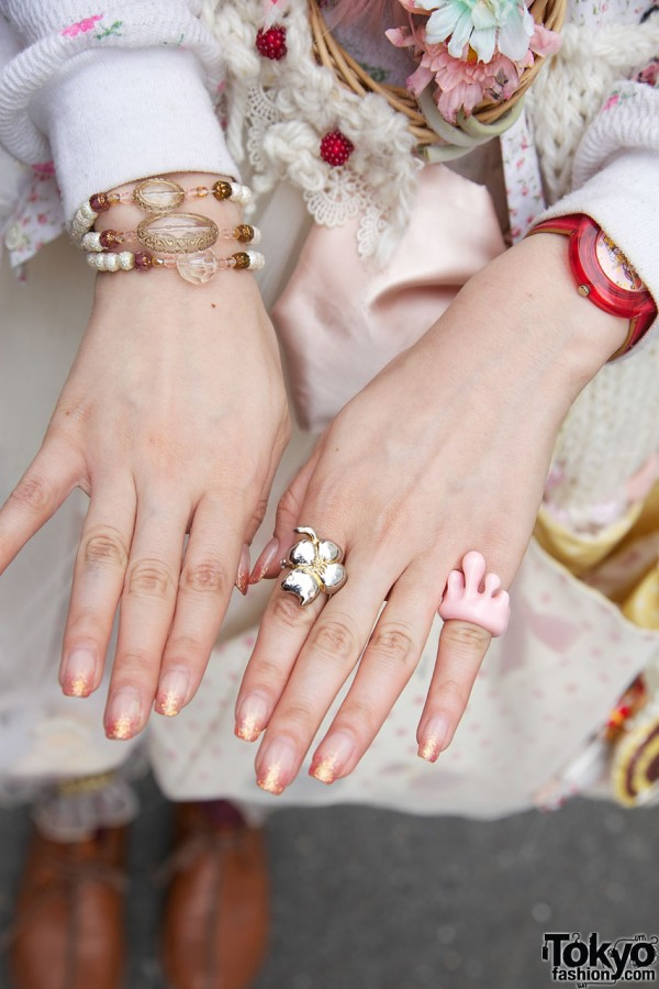 Rings from Q-Pot and Tsumori Chisato
