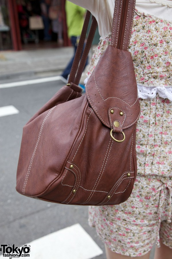 Leather satchel purse