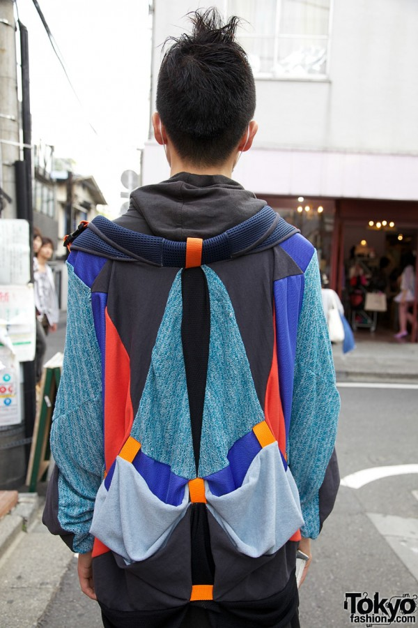 Japanese guy in patchwork top