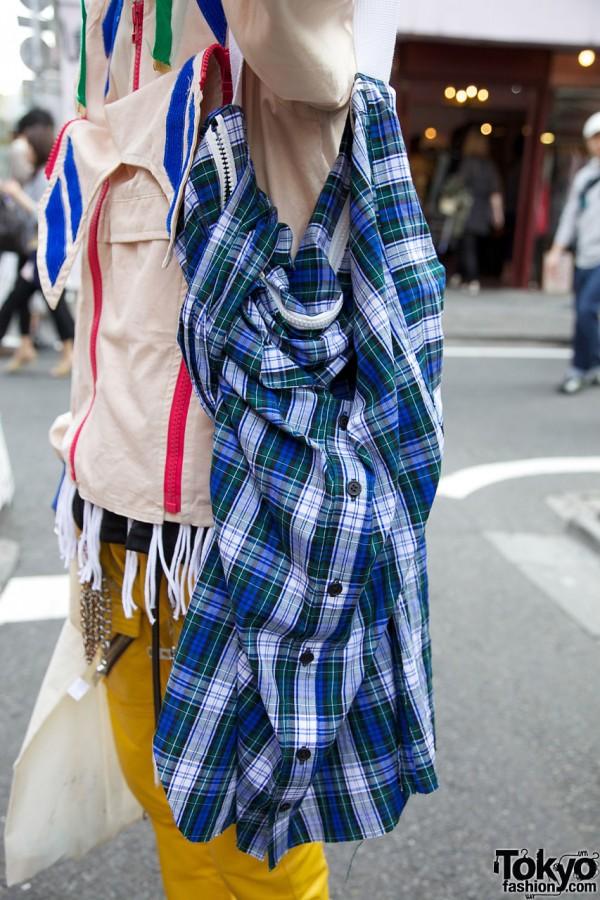 Banal Chic Bizarre bag remade from shirt