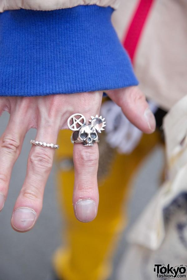 Silver Skull ring in Harajuku