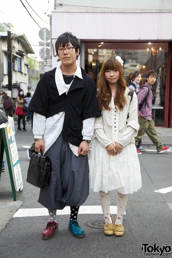 Guy with Sarueru & Piercings w/ Girl in Fairy-Kei Dress