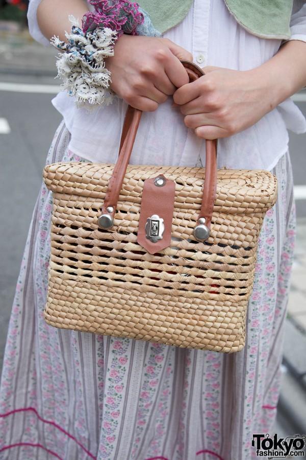 Harajuku vintage straw purse