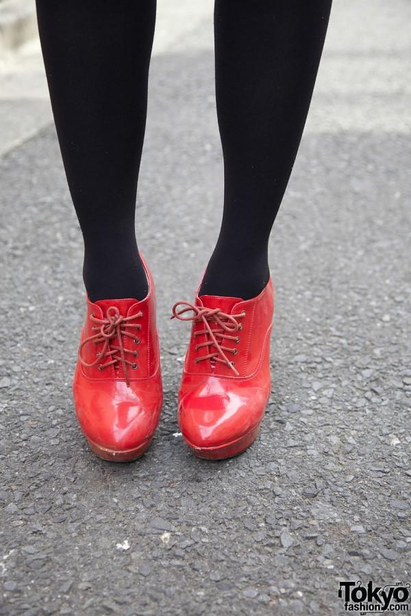 Candy Red Platform Heels