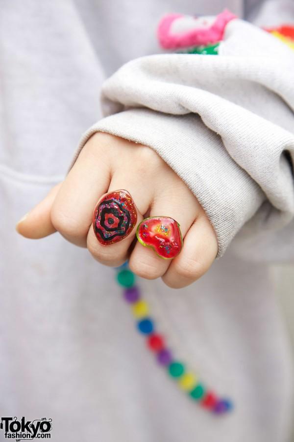 Cute Rings in Harajuku