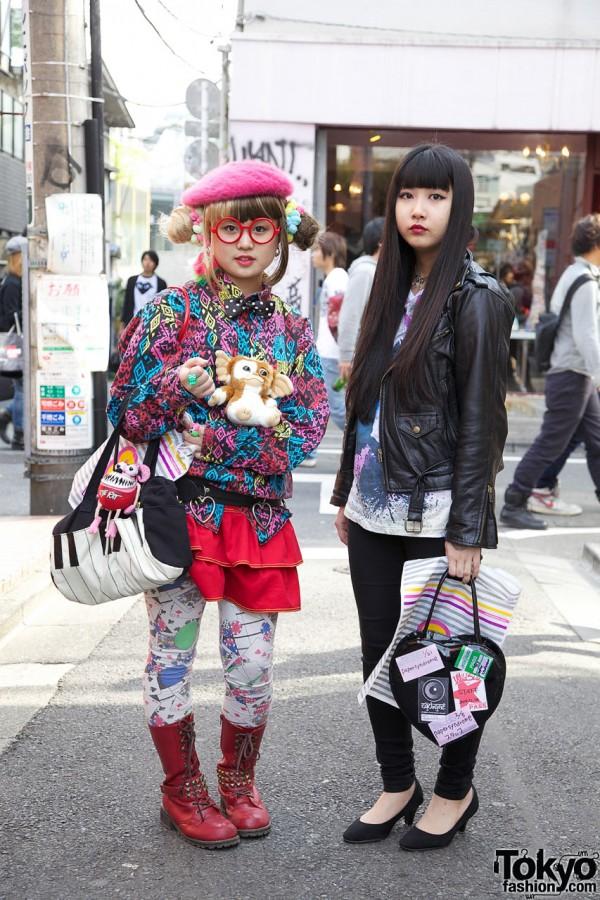 Double Bun Hairstyle Girl, Heart Handbag & Harajuku Gremlin