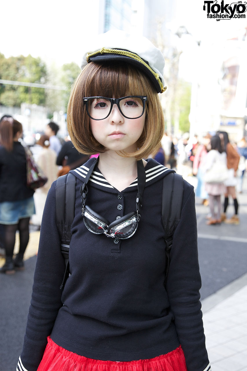 Pity, japanese girl with glasses here