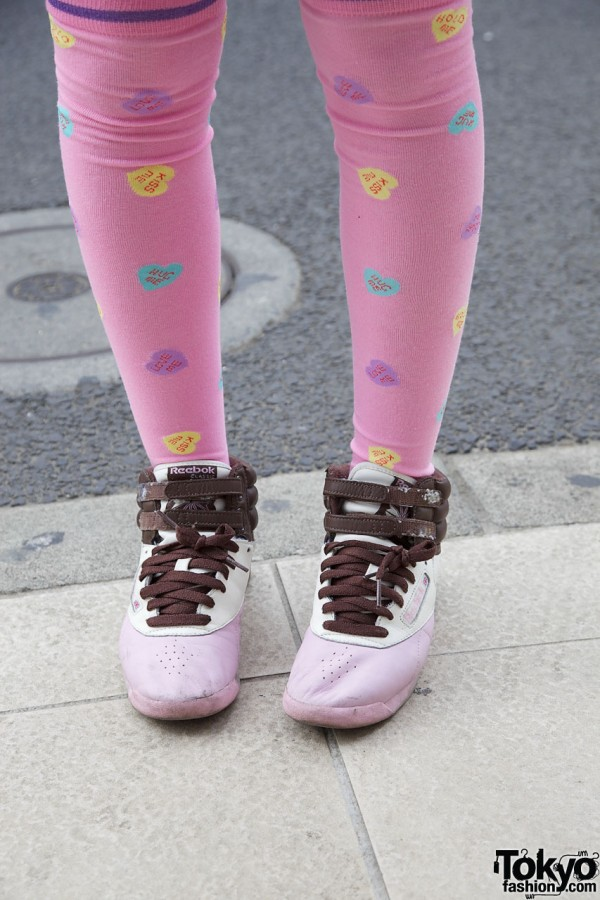 Pinks Socks & Sneakers in Harajuku