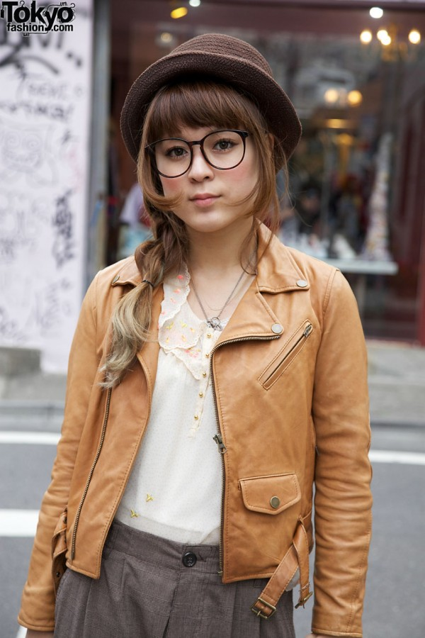 Pinceau jacket & franche lippee top in Harajuku