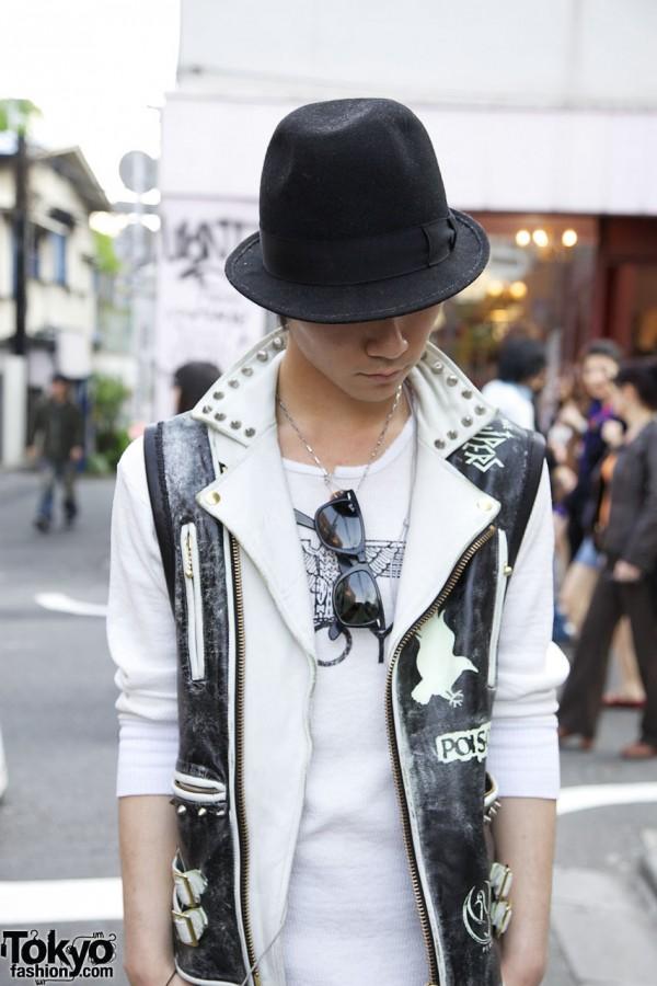 BlackMeans Leather Punk Vest