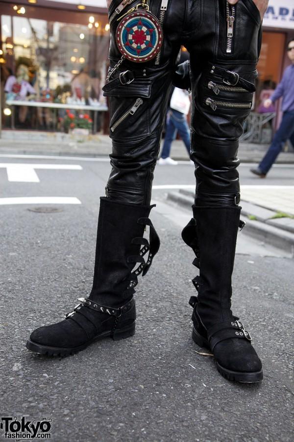 BlackMeans Boots & Zipper Pants