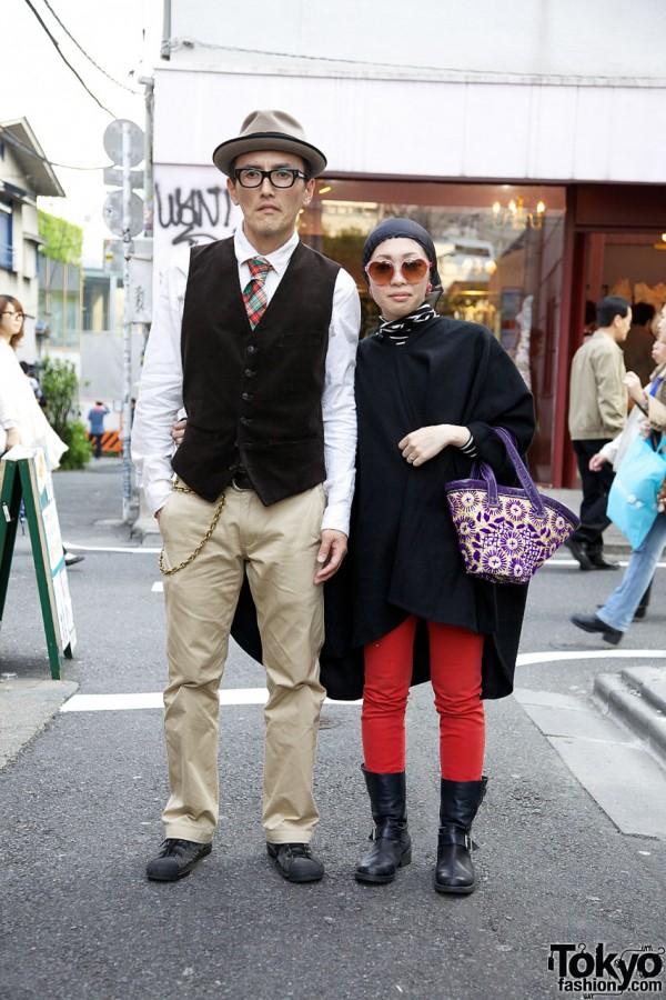 Stylish Japanese Couple w/ Junya Watanabe Boots in Harajuku