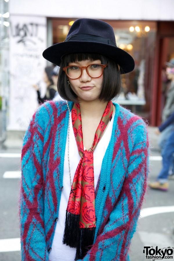 Knit Sweater & Hat in Harajuku