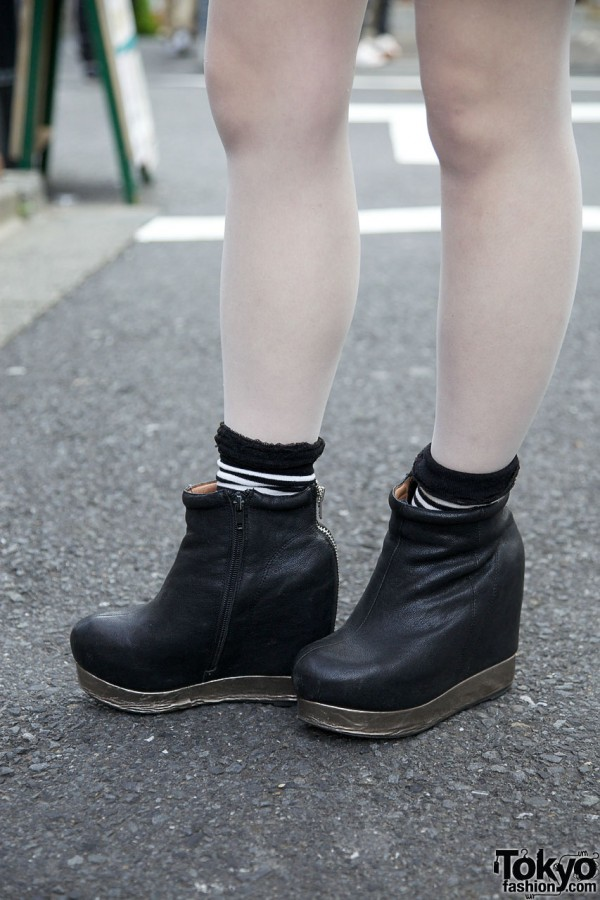 Short black platform boots from Jeffrey Campbell