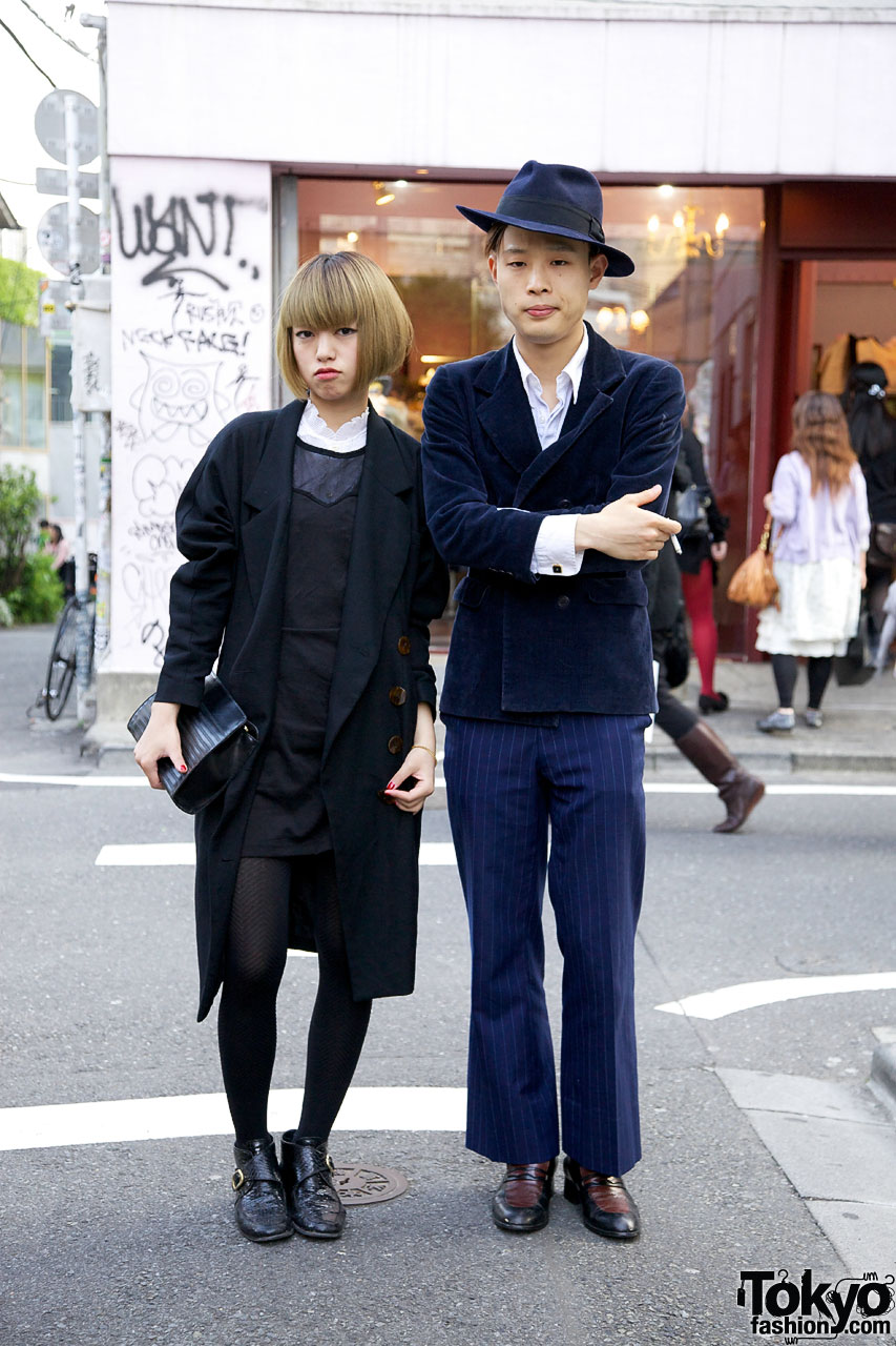 Vintage Street Fashion Couple in Harajuku
