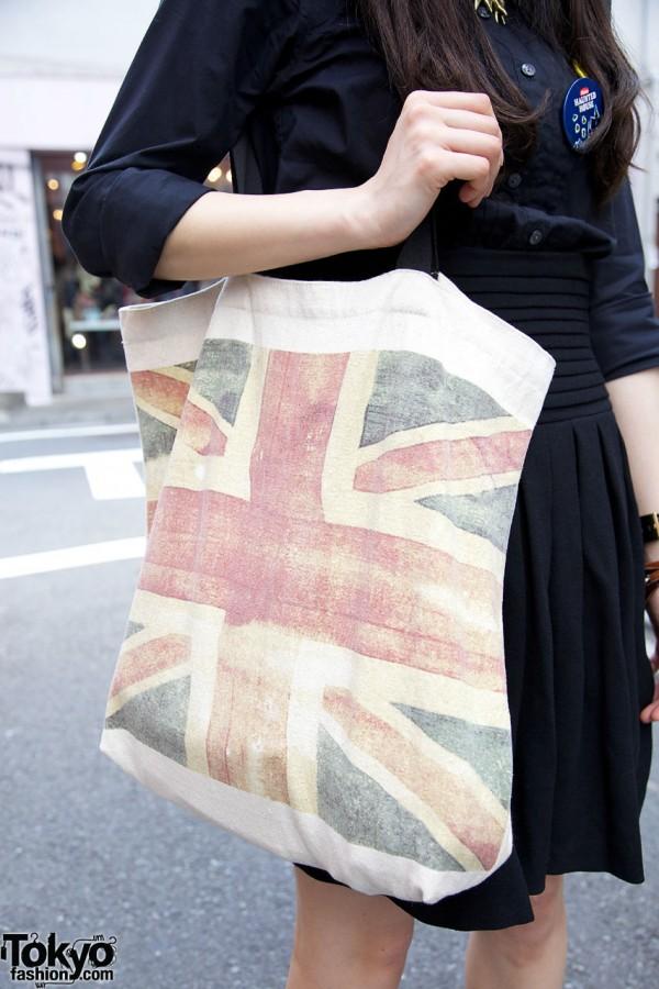 Topshop British Flag Bag