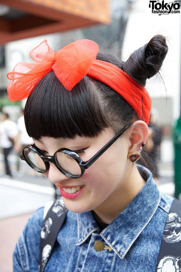 Harajuku Hair Bow & Glasses