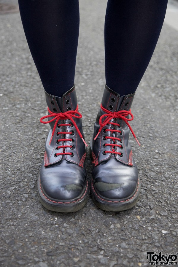 Dr. Martens Boots & Red Laces