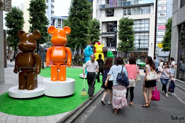 Bearbrick Garden at Parco Shibuya in Tokyo