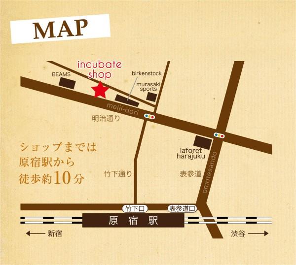 Harajuku Incubate Shop Map