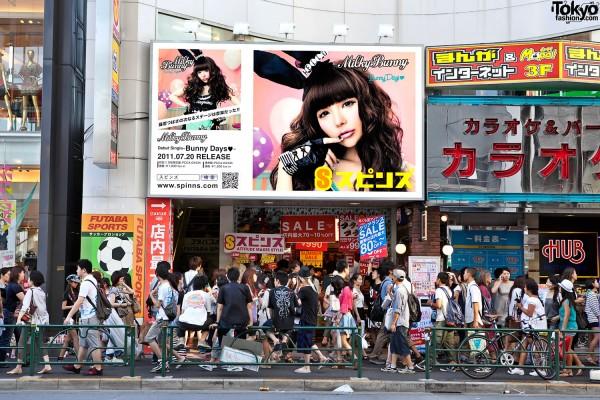 Milky Bunny Spinns Harajuku Billboard