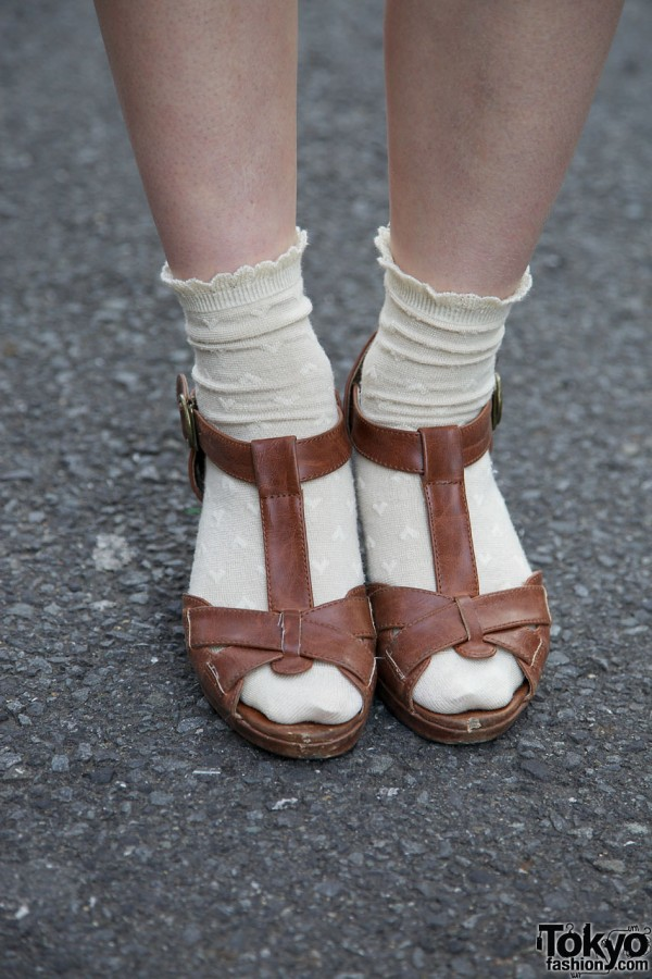 Leather sandals from La Foret