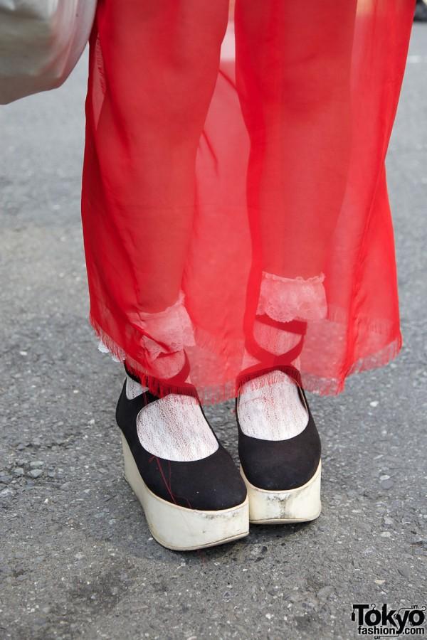 Chiffon skirt & Tokyo Bopper rocking horse shoes