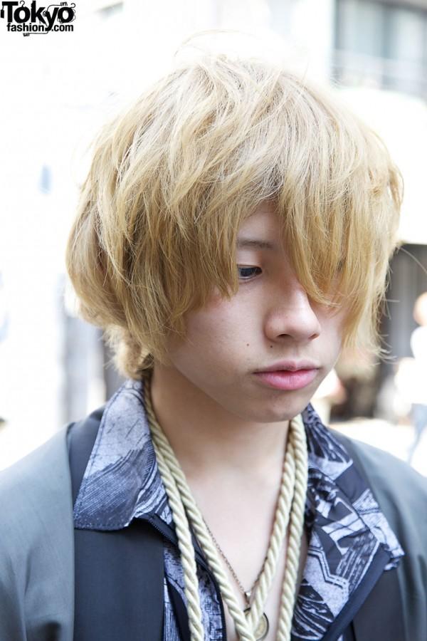 Blonde guy in Harajuku
