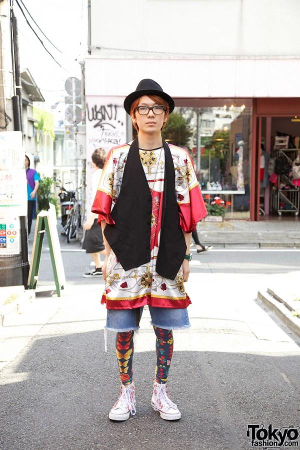 Code Headwear Staffer in Vest, Fedora & Silk Shirt