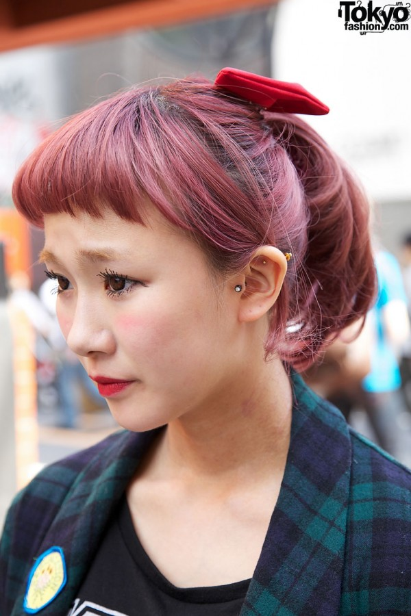 Japanese Red Hair & Hair Bow