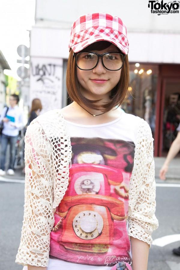 Zara crochet bolero in Harajuku