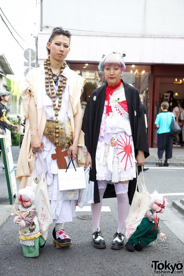 Traditional Japanese-inspired Harajuku Street Fashion