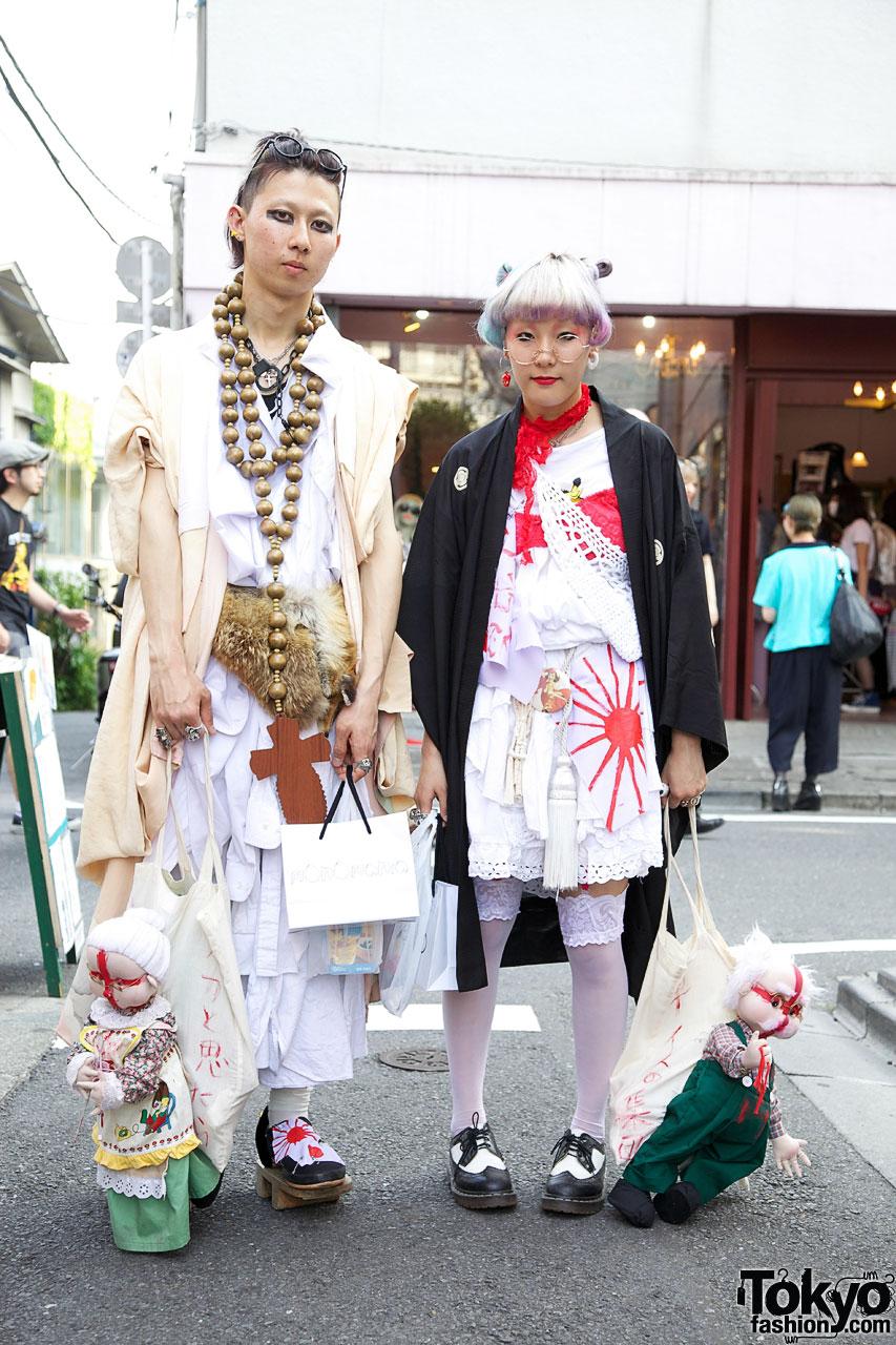 5c66d1aca7ace Traditional Japanese Inspired Harajuku Fashion   Handmade Dolls