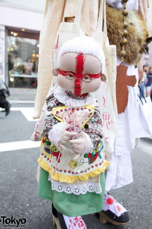 Handmade Japanese Doll in Harajuku