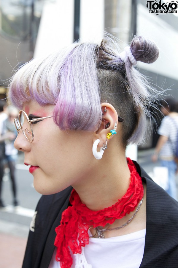 Colored Hair & Piercings in Harajuku
