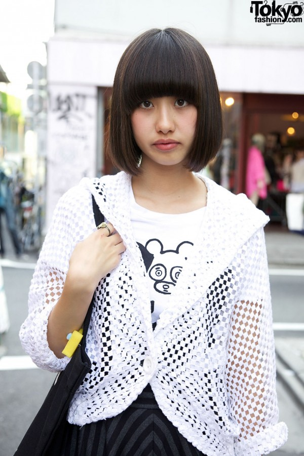 Ne-net t-shirt & Kinji sweater in Harajuku